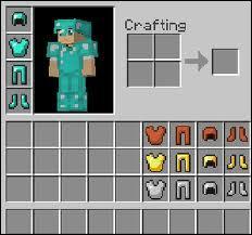 Combien de peaux, or, fer et diamants faut-il pour faire une armure entière ?