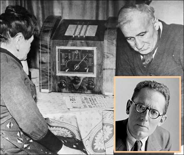 En juillet 1940, devenu porte-parole de la France libre, on entend la voix familière de Maurice Schumann dans l'émission de Radio-Londres...