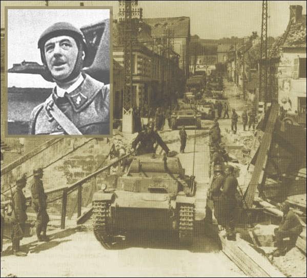 Le 14 mai 1940, Charles de Gaulle est désigné pour commander la nouvelle 4e division cuirassée avec laquelle il exécute une contre-attaque qui parvint à repousser les troupes allemandes. Cette contre attaque s'est effectuée à...