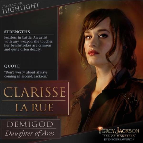 Dans Percy Jackson 5 qui se fait tuer en passant pour Clarisse Larue ?