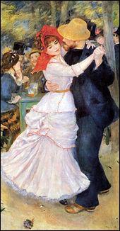 """Cette toile, """"Danse à Bougival"""" a été peinte par ..."""