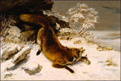 """Quel artiste a peint """"Le Renard dans la neige"""" ?"""