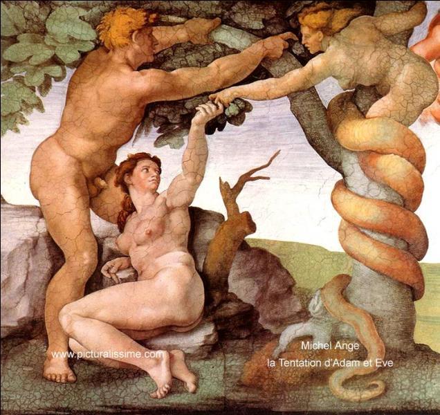 """""""La Tentation d'Adam et Ève"""" est une oeuvre de ..."""