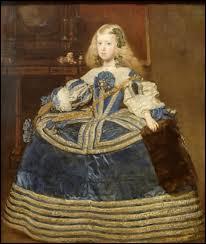 """""""L'Infante Marguerite en bleu"""" est un tableau de ..."""