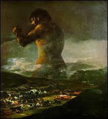 """Ce célèbre tableau, """"Le Colosse"""" est de ..."""