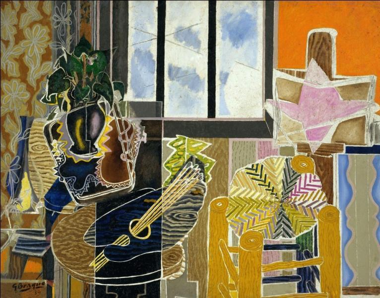 """Cette toile """"Vase devant une fenêtre"""" est une oeuvre de ..."""