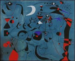 """Cette oeuvre fait partie d'un ensemble intitulé """"Constellations"""" peint par ..."""