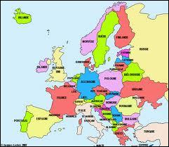 Quel pays du Sud de l'Europe est représenté en rose foncé ?