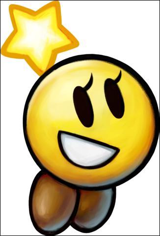 Comment s'appelle la petite boule dorée qui accompagne Mario et Luigi ?