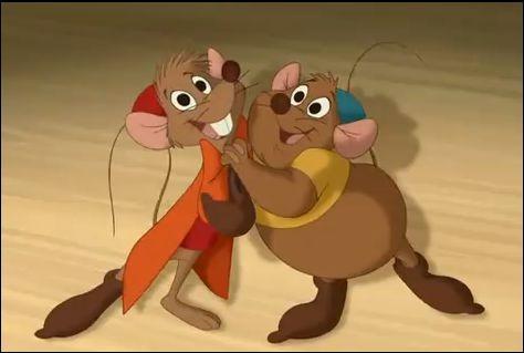 quels sont les noms des deux souris qui accompagnent cendrillon - Souris Cendrillon