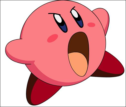 "Dans le dessin animé ""Kirby : Right Back at Ya"", Kirby est :"