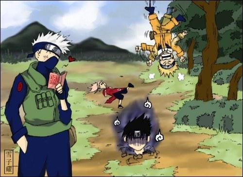 Après avoir battu ses élèves, qu'attendait Kakashi avec impatience ?