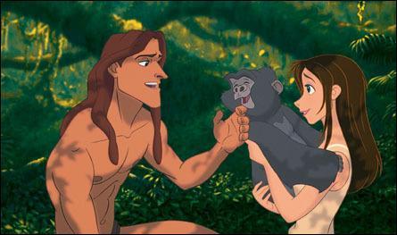 """Que vois-tu sur cette image tirée du dessin animé """"Tarzan"""" ?"""