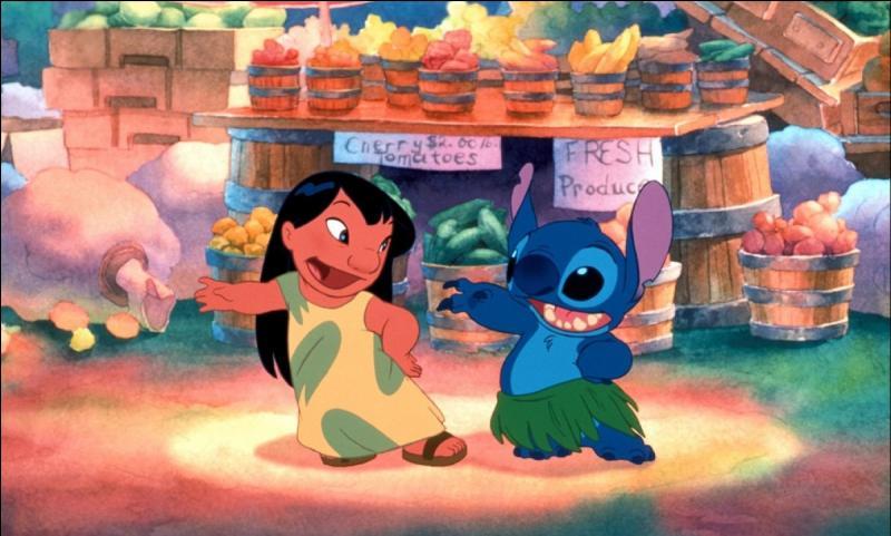 """Que vois-tu sur cette image tirée du dessin animé """"Lilo et Stitch"""" ?"""