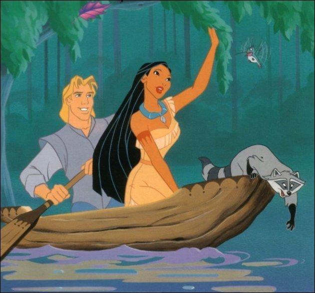 """Qui vois-tu sur cette image tirée du dessin animé """"Pocahontas"""" ?"""