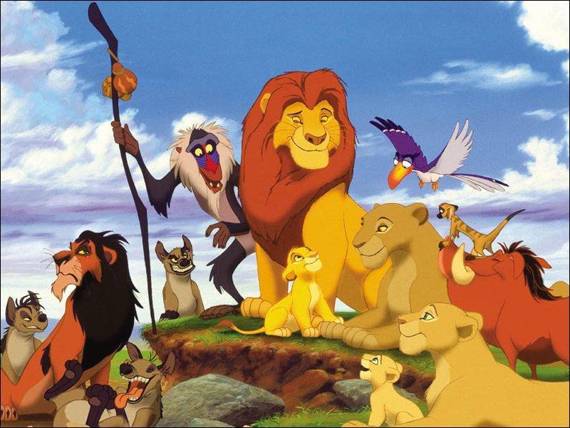 """Que vois-tu sur cette image tirée du dessin animé """"Le Roi Lion"""" ?"""