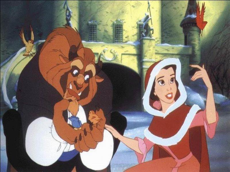 """Que vois-tu sur cette image tirée du dessin animé """"La Belle et la Bête"""" ?"""