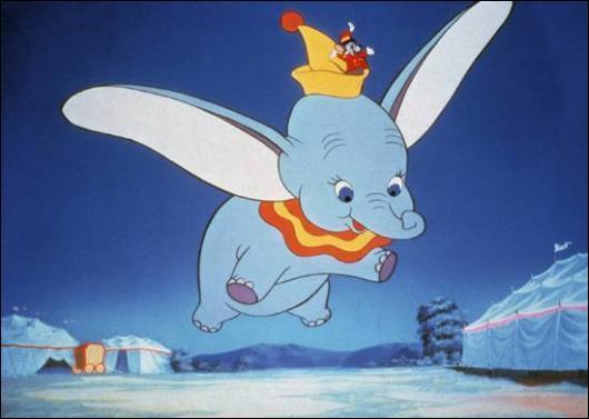 """Cette image est tirée du dessin animé """"Dumbo"""", que peux-tu voir sur cette photo ?"""