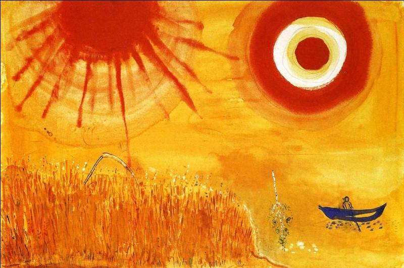Un champ de blé, après-midi d'été