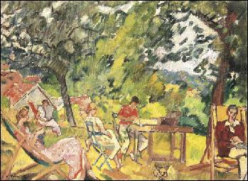Après-midi dans le jardin de Choisel.