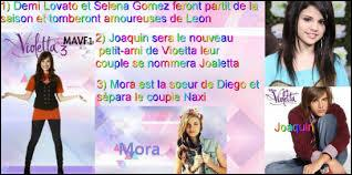Qui se rejoindra à la 3e saison de Violetta ?