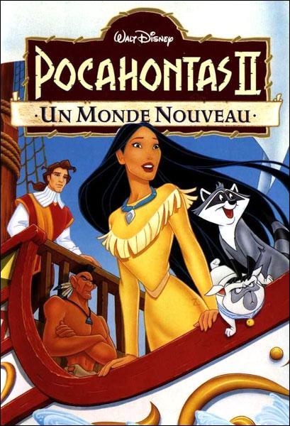 """Dans """"Pocahontas 2"""", Pocahontas se rend en Angleterre. Par qui est-elle escortée ?"""