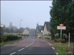 Nous entrons à Courtils. Village de la Baie du Mont-Saint-Michel, il se situe donc en région ...