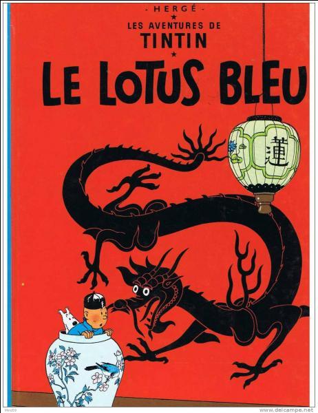 """De quel autre album des aventures de Tintin """"Le Lotus bleu"""" est-il la suite ?"""