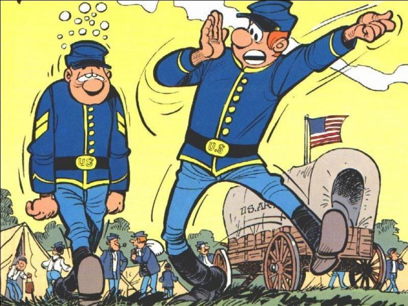 Quel est le titre de cette série de bandes dessinées humoristiques, dont l'action se passe pendant la guerre de Sécession ?