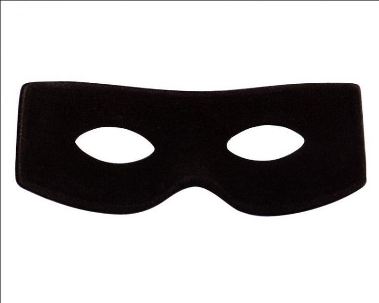 A quel dessin animé appartient ce masque noir ?
