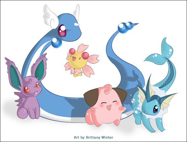 Combien de Pokémon sur cette photo ont évolué au moins une fois ?