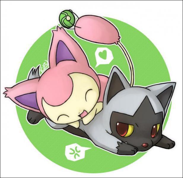 Comment s'appellent ces deux Pokémon jouant ensemble ?