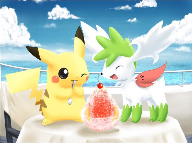 Qui mange une glace en compagnie de Pikachu ?