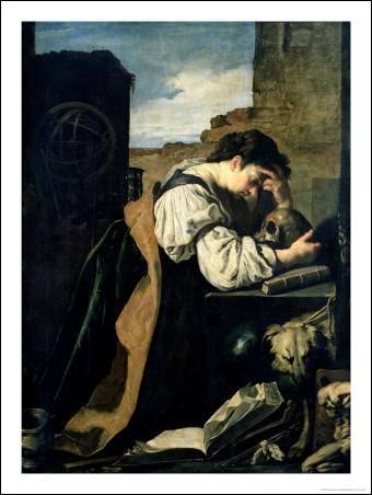 Ce tableau qui représente une jeune femme en proie à une grande tristesse, est l'oeuvre de Domenico Fetti(1622) Quel est son titre ?