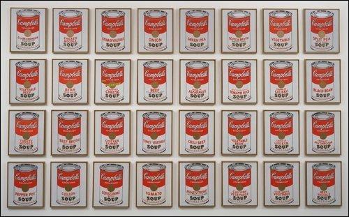 """Qui a peint """"Campbell's Soup Cans"""" ?"""