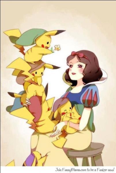 """Quels personnages incarnent les Pikachu dans """"Blanche-Neige"""" ?"""