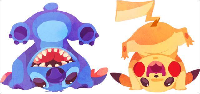 Avec qui Pikachu s'amuse-t-il à faire le pitre ?
