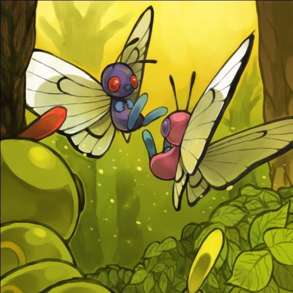 Un pokémon observe les deux Papilusion. De qui s'agit-il ?