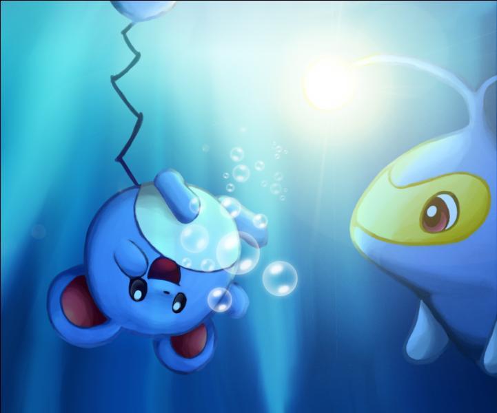 Lequel de ces deux pokémon éclaire sous l'eau ?