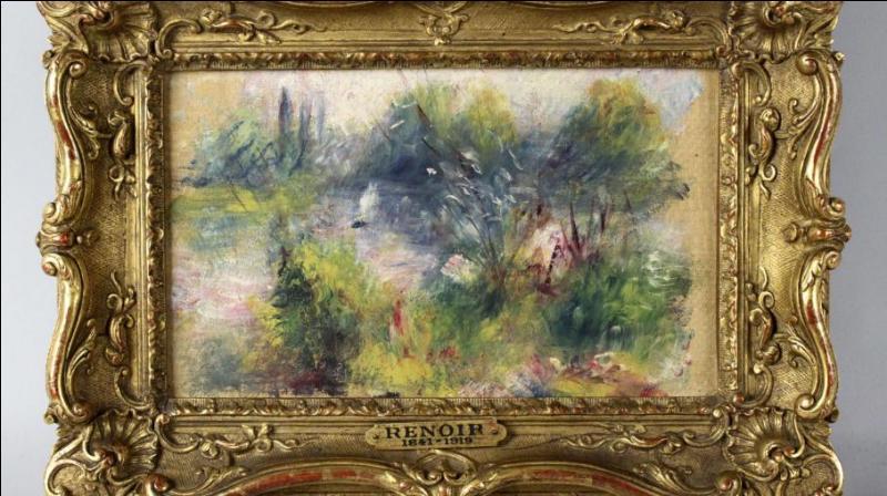 """Où est exposé ce tableau intitulé """"Paysage des bords de Seine"""", volé et 1951 et retrouvé en 2012 ?"""