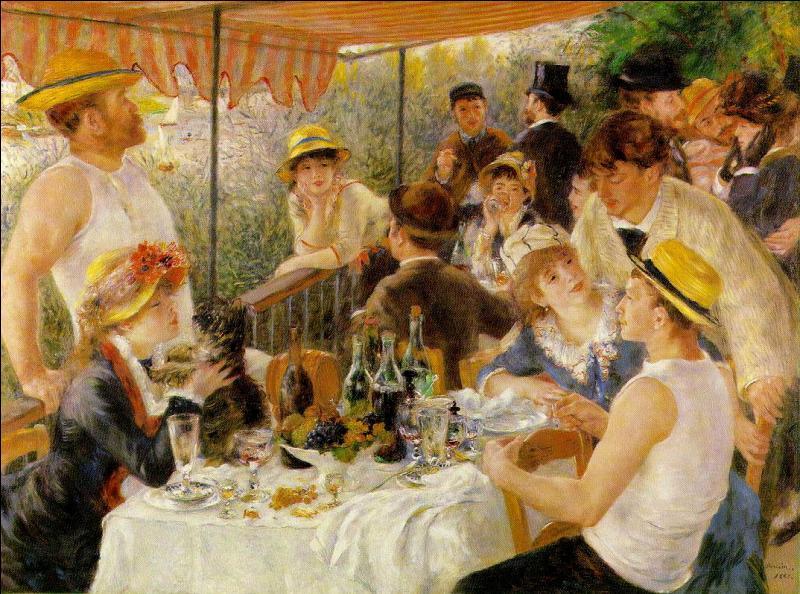"""En quelle année fut peinte la célèbre toile ayant pour nom """"Le Déjeuner des canotiers"""" ?"""