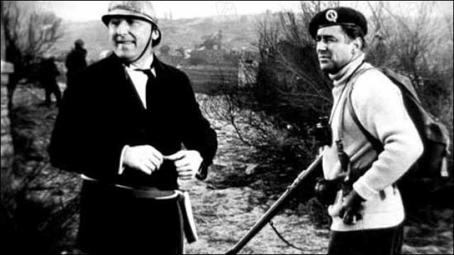 Brigadier Lord Lovat ( à droite )