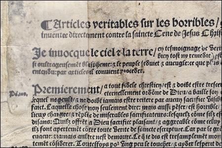 Quelle grave affaire en 1534, considéré par François 1er comme un crime de lèse-majesté, est un prémice des guerres de religion en France ?