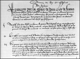 Quelle ordonnance royale de 1539 fait du français la langue officielle de l'administration et du droit, à la place du latin ?