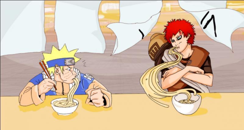 Ceci est le concours de celui qui mangera le plus de nouilles le plus rapidement possible. Qui est en train de gagner ?