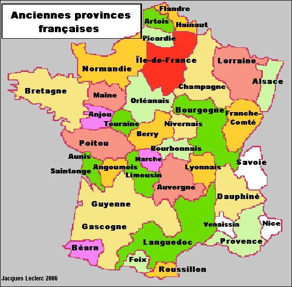35 belles provinces > Adonc, nous voici aux portes d'un nouveau découpage régional, paraît-il ? Mais quelles sont ces belles provinces, gentes dames et damoiseaux ?