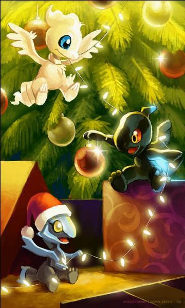 Qui sont ces mignons Pokémon fêtant Noël ?