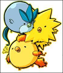 De quelle génération apparaissent ces trois oiseaux ?