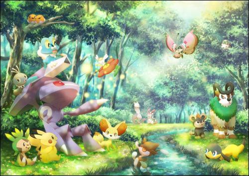 Qui est le Pokémon légendaire assis à côté de Pikachu ?