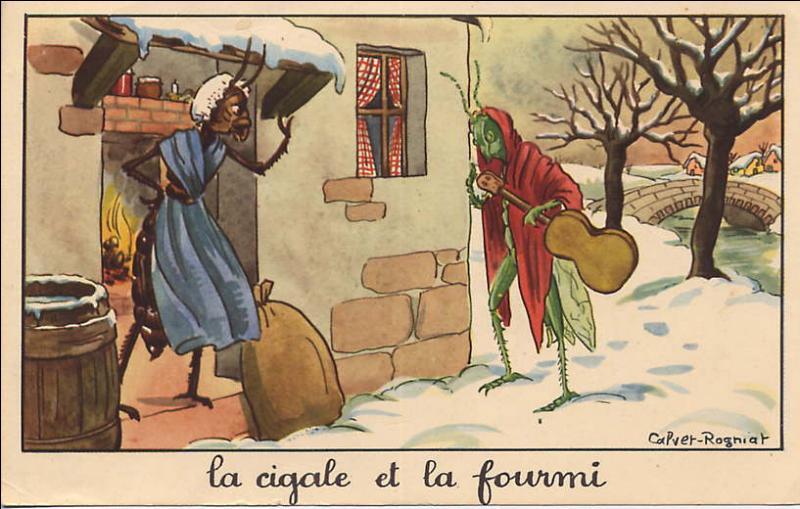 """Complétez le début de cette célèbre fable de La Fontaine : """"La cigale ayant chanté tout l'été""""..."""